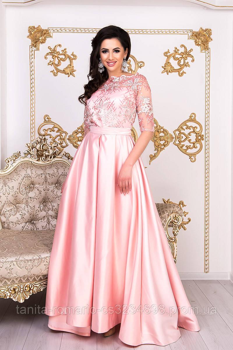 Вечірня сукня на випускний вечір коралового кольору