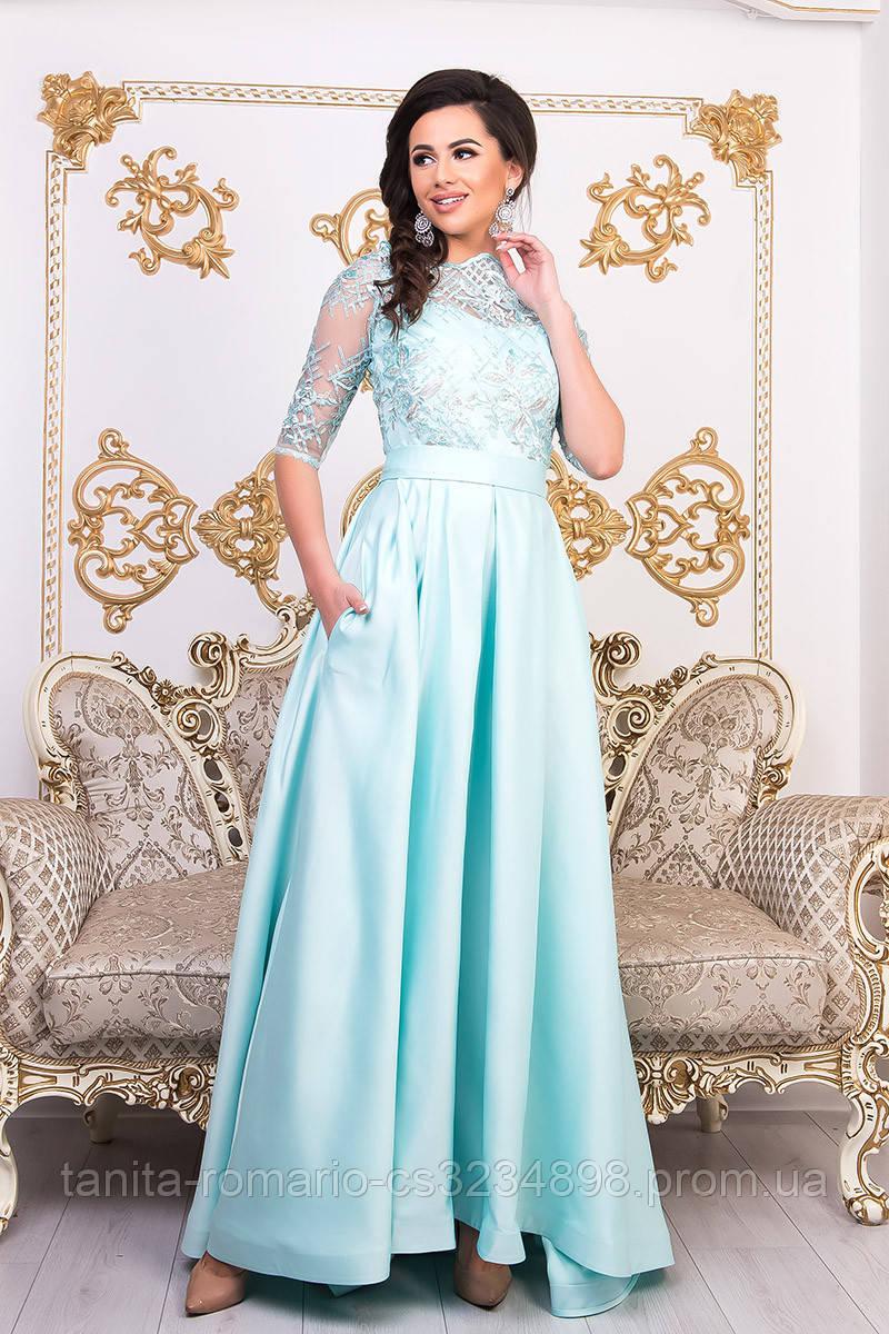 Вечернее платье 9001e Мятный  S M L
