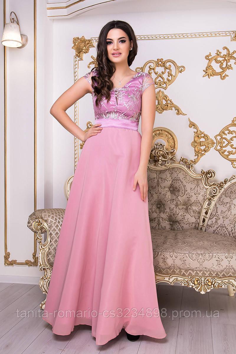 Вечернее платье 9003e Фрезовый L(р)