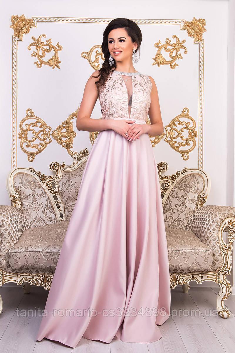 Вечернее платье 9004e Розовый  S M L