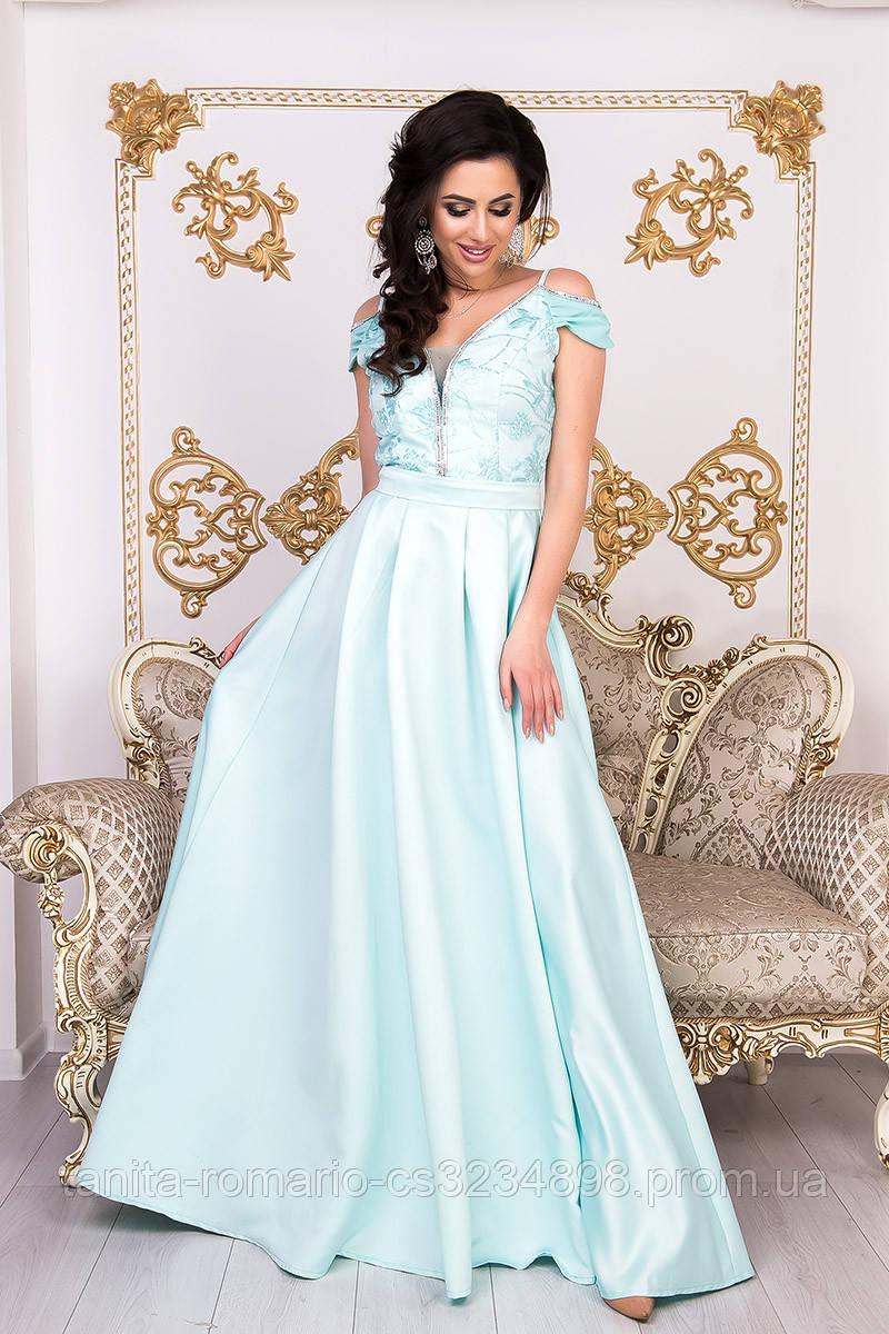 Вечернее платье 9008e Мятный  S M L