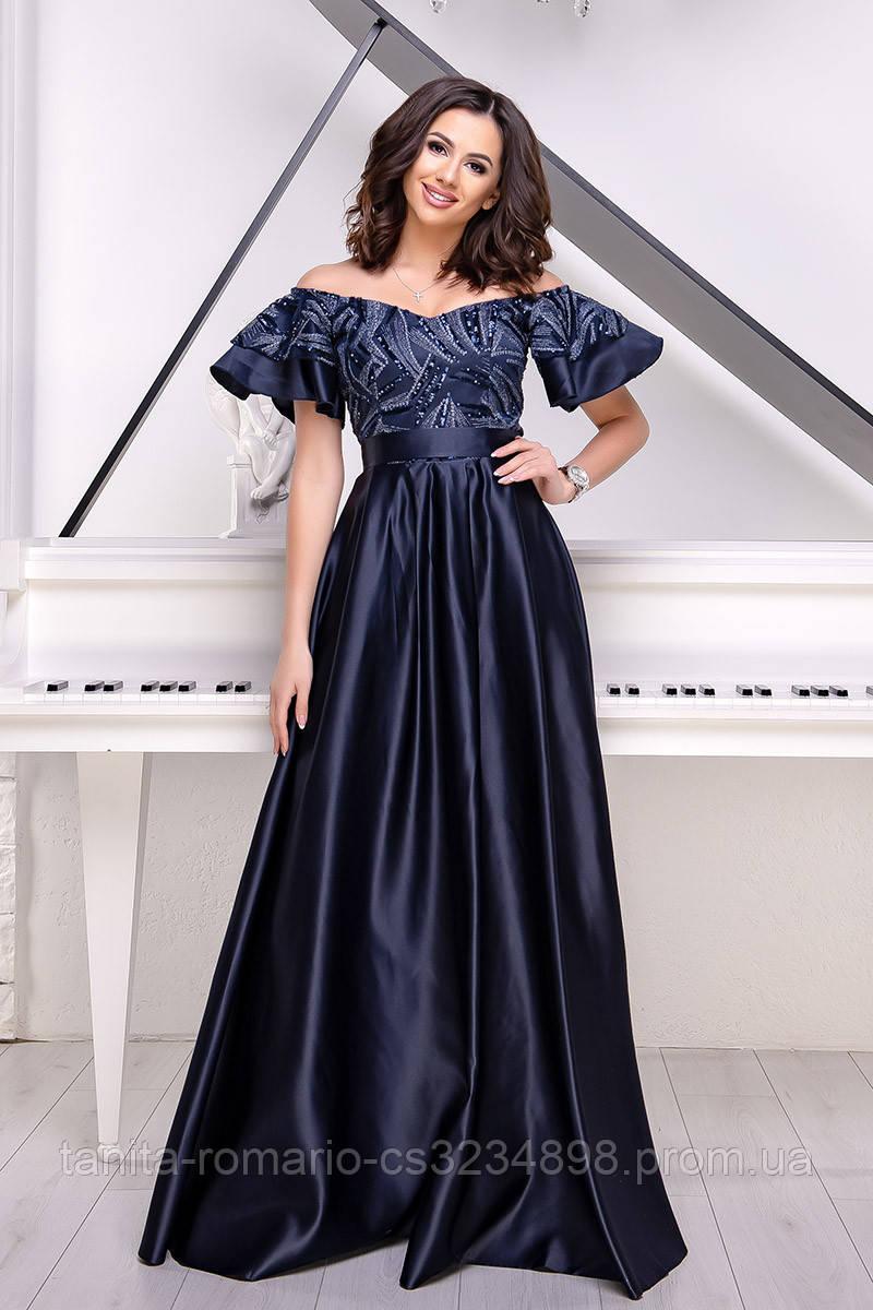 Вечернее платье 9018e Синий L(р)