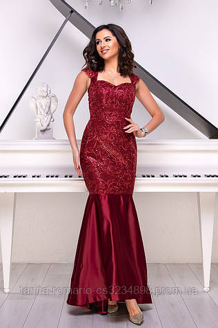 Вечернее платье 9014e Бордо L