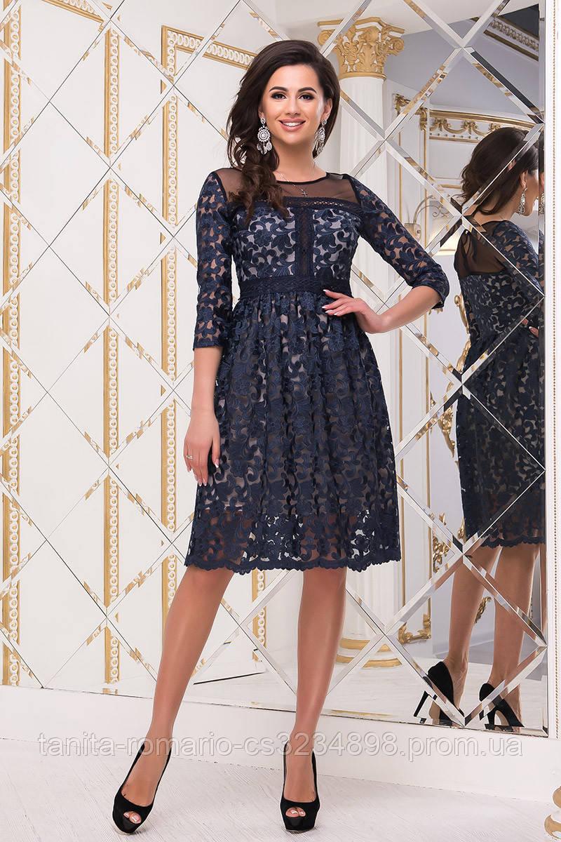 Вечернее платье 9006e Синий M(р)