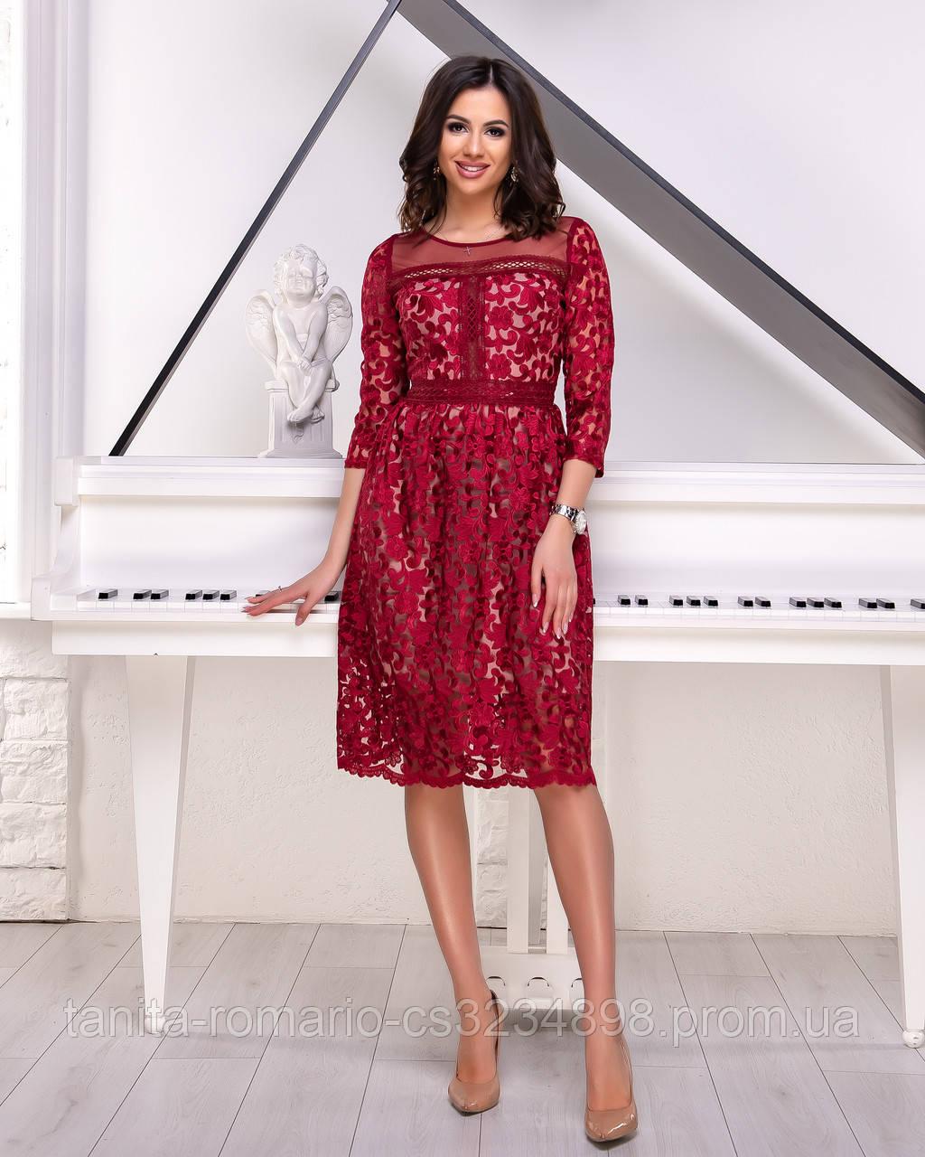 Вечернее платье 9006e Бордо  S M L