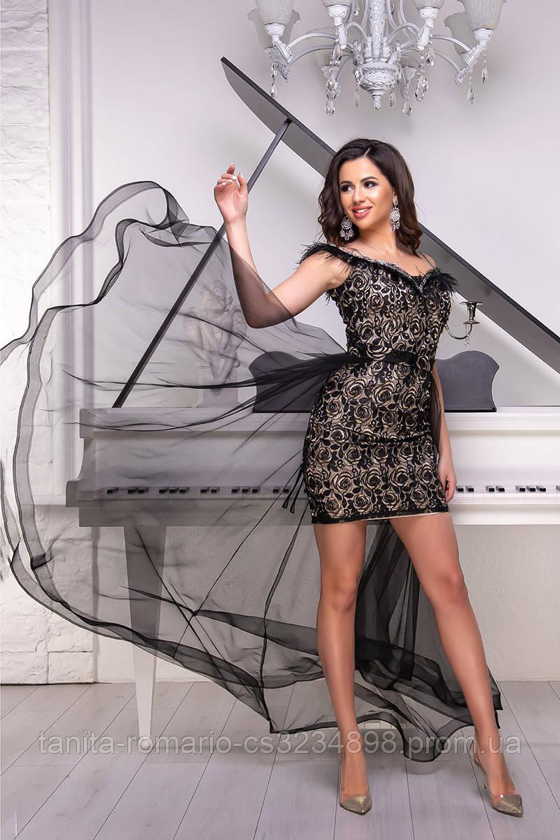 Вечернее платье 9019e Чёрный  S M L