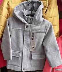 Пальто для мальчика в сером цвете