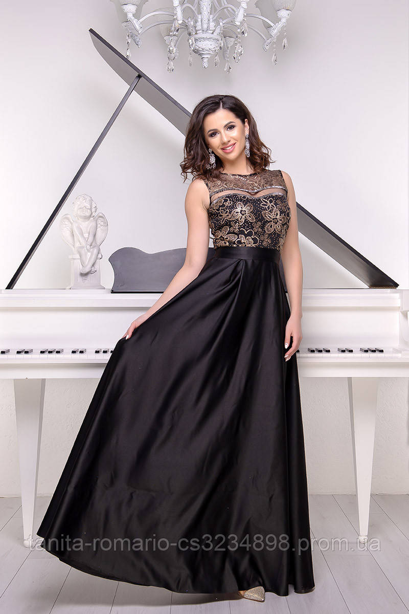 Вечернее платье 9032e Чёрный  S M L