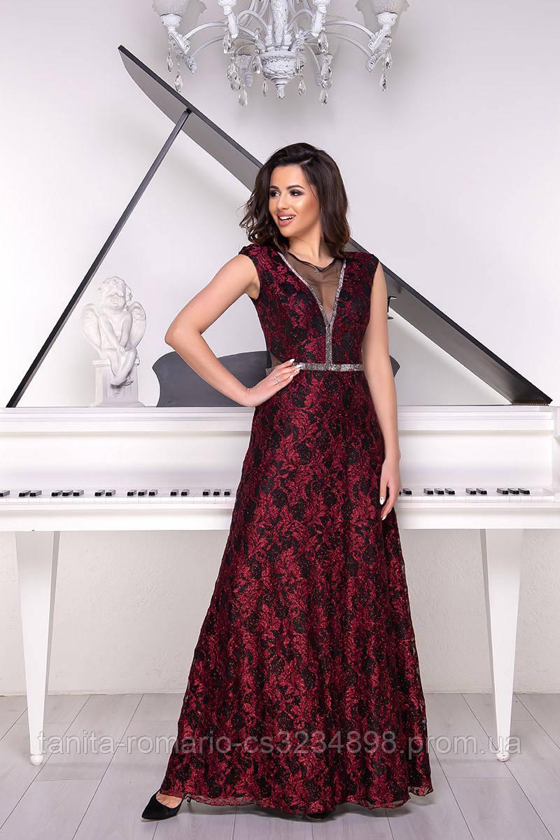 Вечернее платье 9026e Бордо  S M L