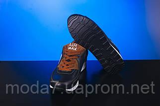 Кроссовки подростковые Yuves Rex синие-рыжие (натуральная кожа, весна/осень), фото 3