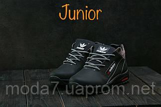 Кроссовки подростковые CrosSAV 39 черные (натуральная кожа, зима), фото 2