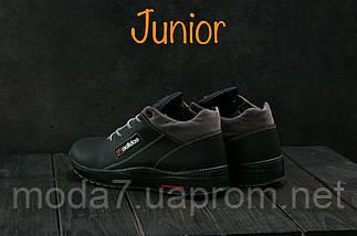 Кроссовки подростковые CrosSAV 39 черные (натуральная кожа, зима), фото 3