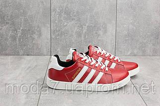 Кеды подростковые CrosSAV 112 красные (натуральная кожа, весна/осень), фото 3