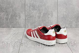 Кеды подростковые CrosSAV 112 красные (натуральная кожа, весна/осень), фото 2