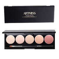 Палитра из 5 консилеров Artmiss №02 (Five-color Multi-effect Concealer Palette), 1.5гр х 5