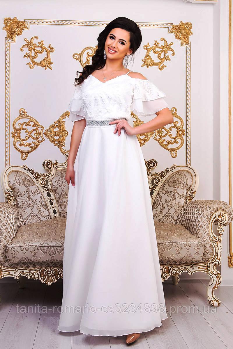 Вечернее платье 9020e Молочный S M L