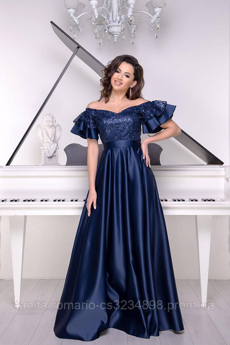 Вечернее платье 9018/1e Синий S M L