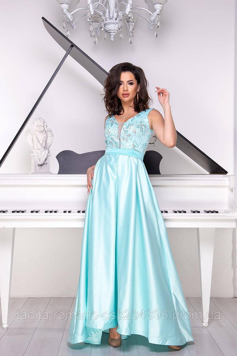 Вечернее платье 9041e Мятный S M L