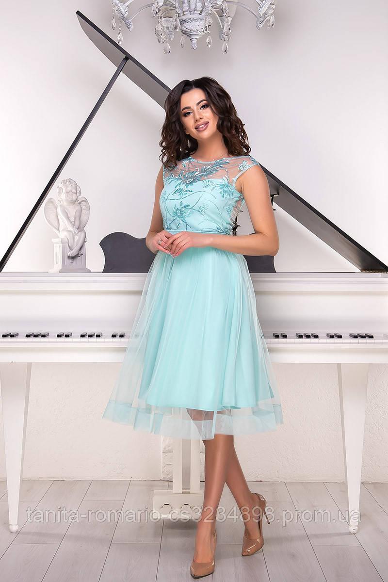 Вечернее платье 9044e Мятный S M L