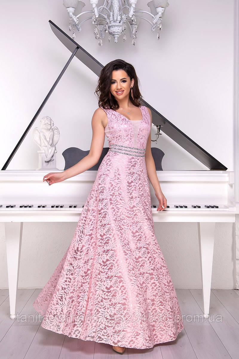 Вечернее платье 8067e Розовый S M L