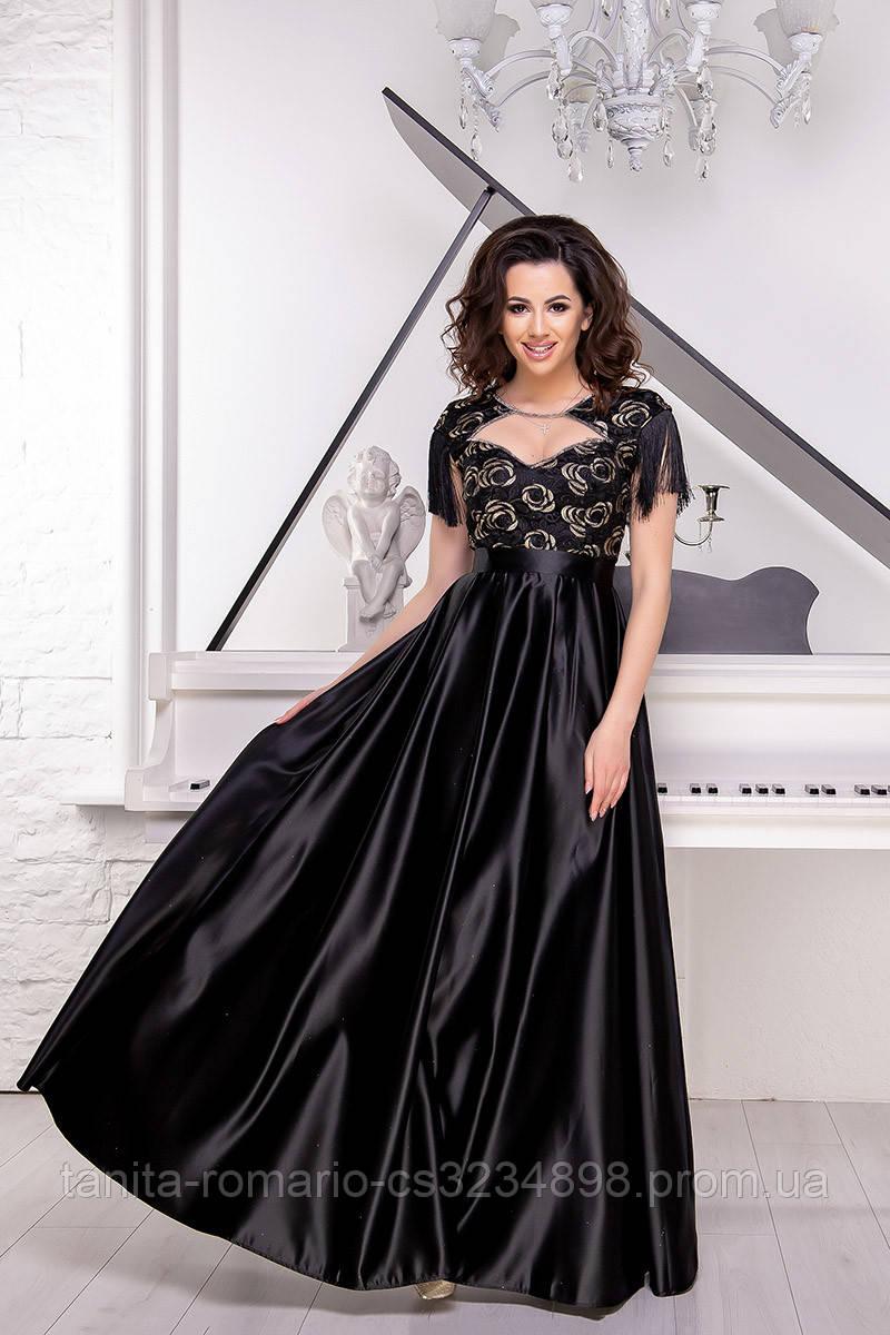 Вечернее платье 9040e Чёрный S M L