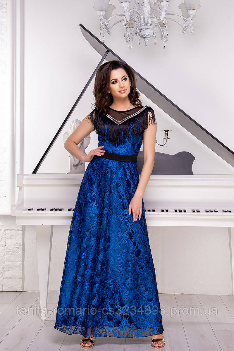 Вечернее платье 9046e Электрик L(р)