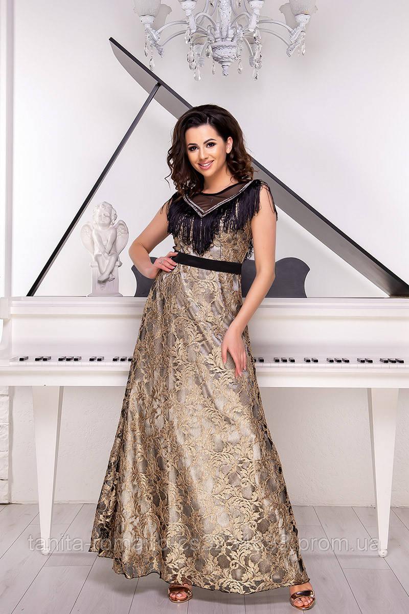 Вечернее платье 9046e Золотой L(р)