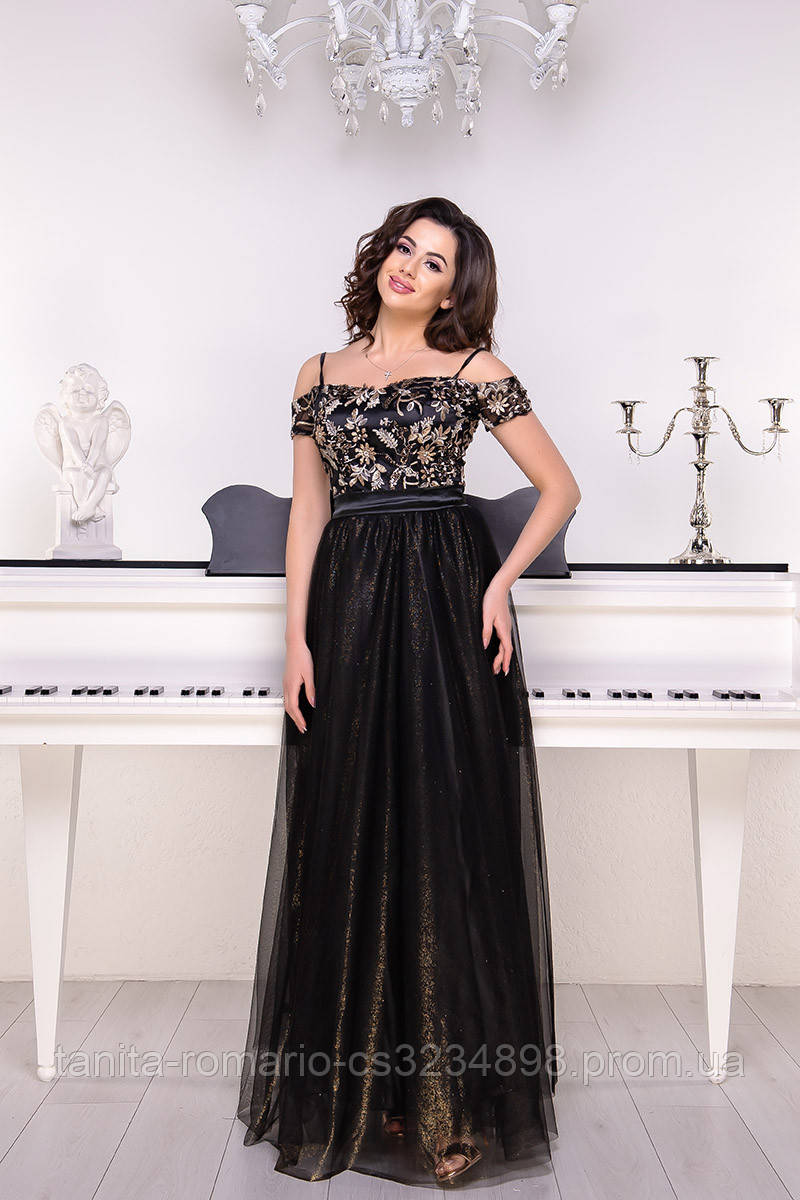 Вечернее платье 9056e Чёрный S M L