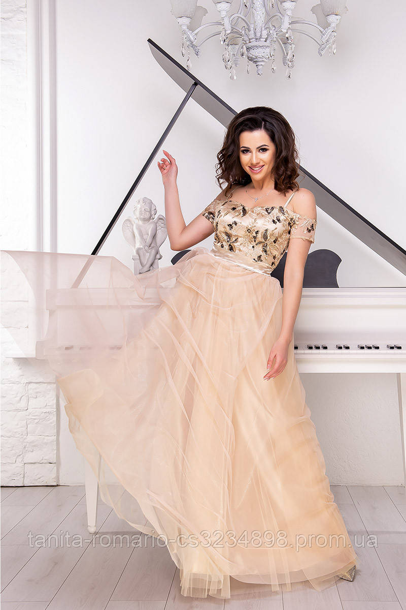 Вечернее платье 9056e Золотой M(р)