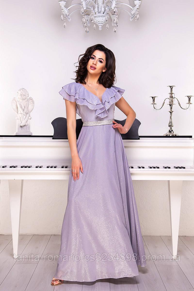 Вечернее платье 9060e Серый S M L
