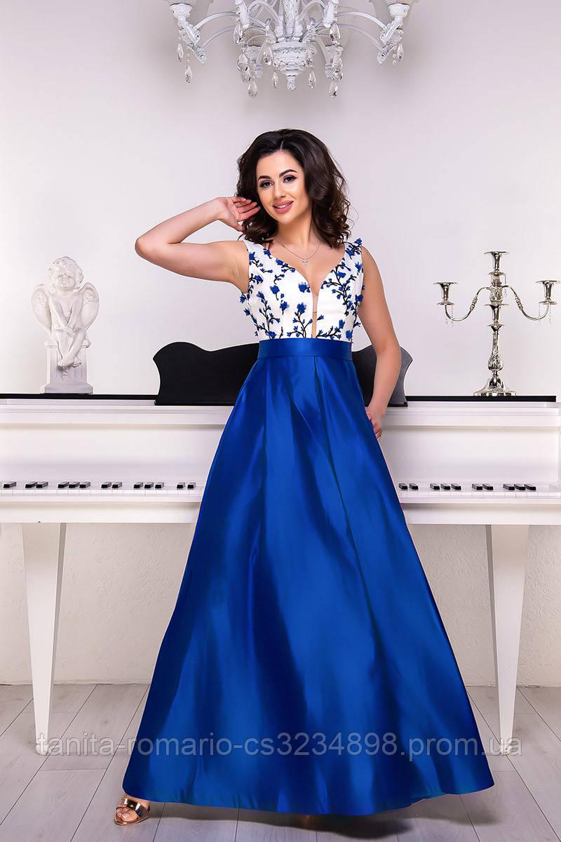 Вечернее платье 9051e Электрик L(р)