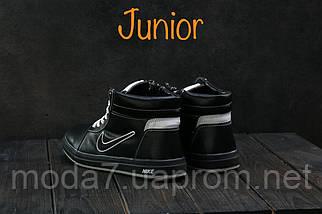 Кеды детские CrosSAV 35 черные (натуральная кожа, зима), фото 2