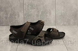 Босоножки мужские Yuves 310 коричневые (натуральная кожа, лето), фото 2