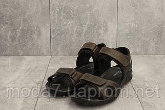 Босоножки мужские Yuves 310 коричневые (натуральная кожа, лето), фото 3