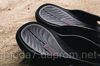 Шлепанцы мужские Rider 82215 -20780 Strike черные-серые (резина, лето), фото 3