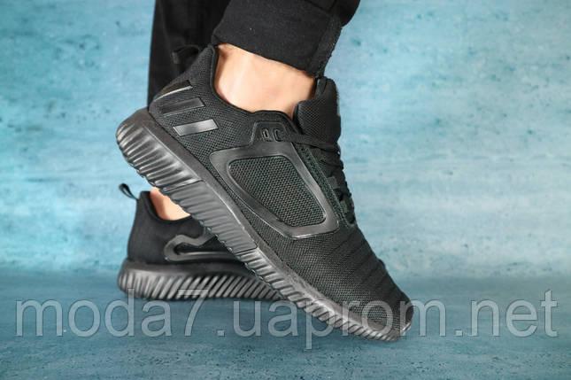 Кроссовки мужские Classica 1124 -2 черные (текстиль, лето), фото 2