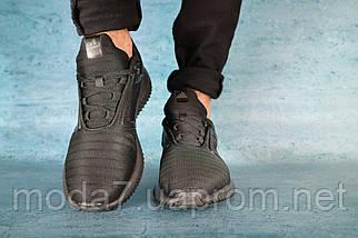 Кроссовки мужские Classica 1124 -2 черные (текстиль, лето), фото 3