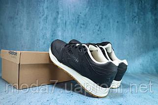 Кроссовки мужские Classica 46608 -2 черные (натуральная кожа, весна/осень), фото 2