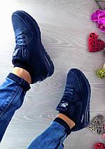 Кроссовки женские Classica 7107 синие (искусственная кожа, весна/осень), фото 3