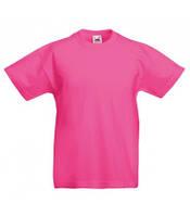 Прямая футболка для девочки FRUIT OF THE LOOM valuweight t