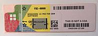 MICROSOFT WINDOWS 10 PROFESSIONAL 64-bit OEM UKR (FQC-08909) COA