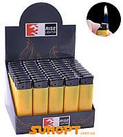 Пластиковая зажигалка пьезо Желтая (для рекламы) №815-41