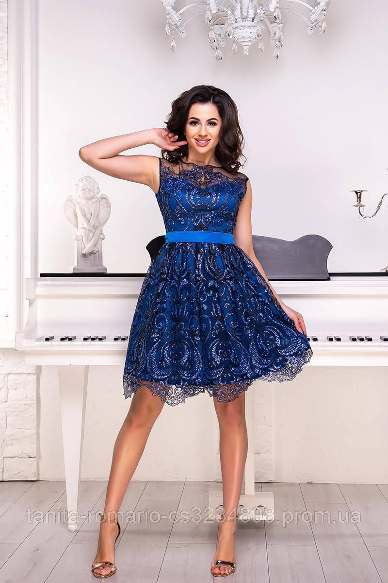 Коктейльное платье 9047e Электрик S M L