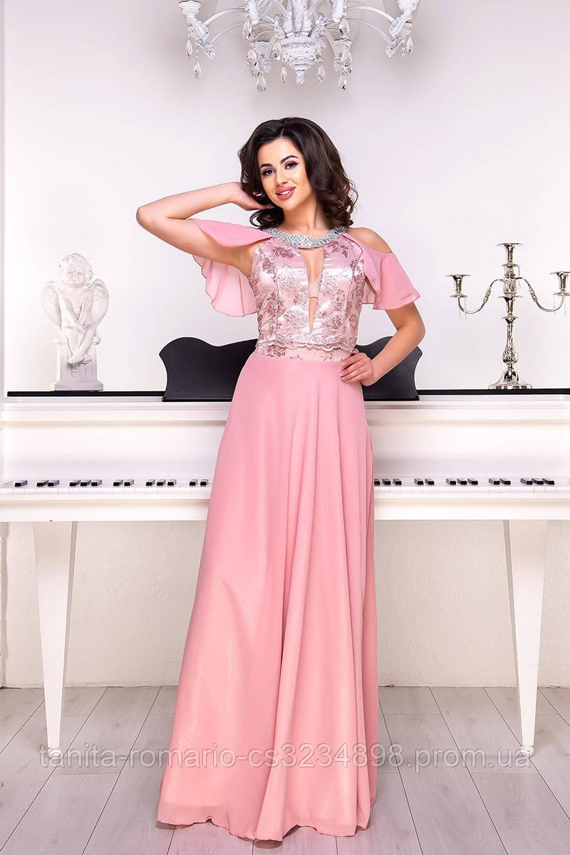 Вечернее платье 9064e Фрезовый L(р)