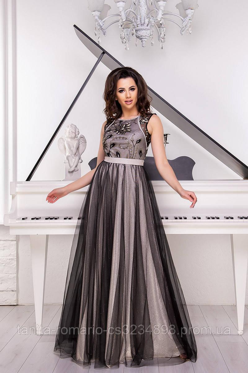 Вечернее платье 9066e Чёрный L(р)