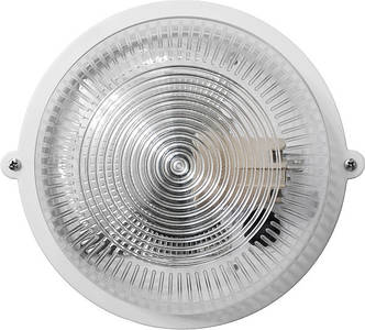 Светильник ЖКХ НПП-65 ПП-1001-10-0/6 круг белый/прозрачный с рисунком IP65 Е27