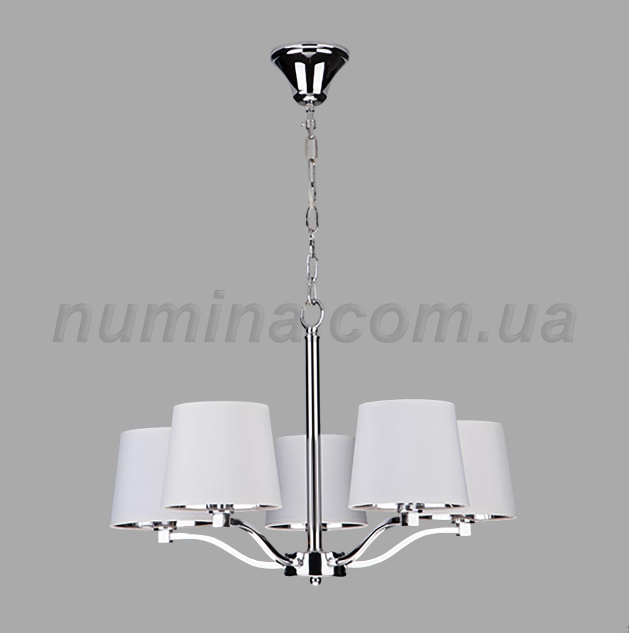 Люстра подвесная на пять ламп 29-3147/5А CR+WT