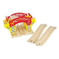 Разводной подъемный мост для деревянных дорог фирмы Bigjigs Rail Великобритания