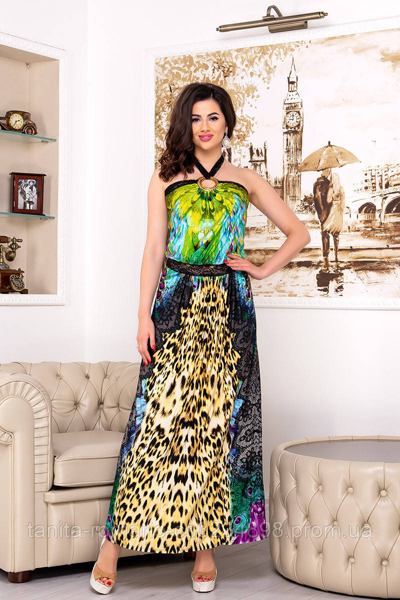 Повседневное платье 3205e Жёлтый S(р)