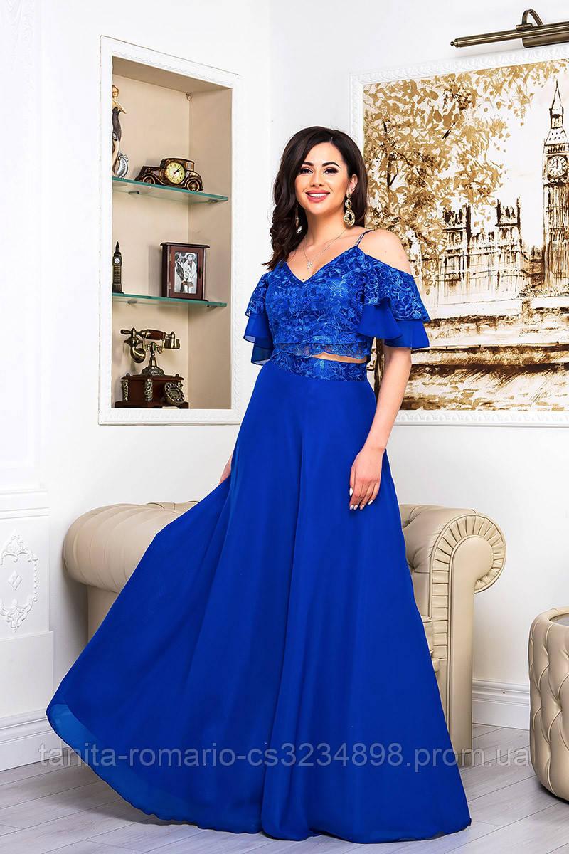 Вечернее платье 9068e Электрик S M L